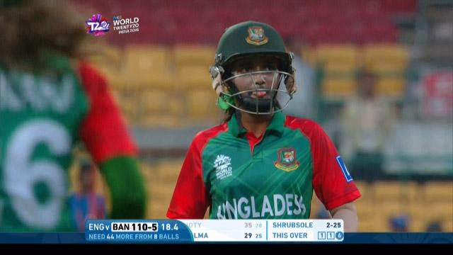 Nigar Sultana Wicket Fall ENG V BAN Video ICC Womens WT20 2016