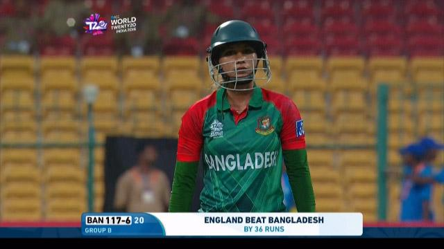 Jahanara Alam Wicket Fall ENG V BAN Video ICC Womens WT20 2016
