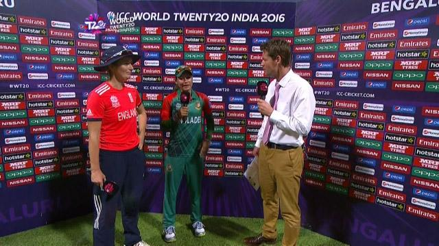 Match Presentation for ENG V BAN Match 4 ICC Womens WT20 2016