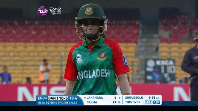 Bangladesh wicket Losses v England Video ICC Womens WT20 2016
