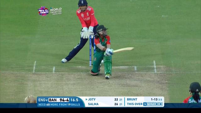 Bangladesh Innings Super Shots v ENG ICC Womens WT20 2016