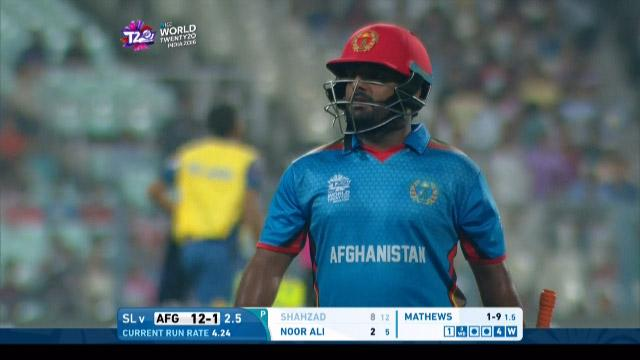 Mohammad Shahzad Wicket Fall SL V AFG Video ICC WT20 2016