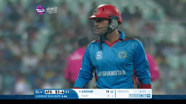 Mohammad Nabi Wicket Fall SL V AFG Video ICC WT20 2016