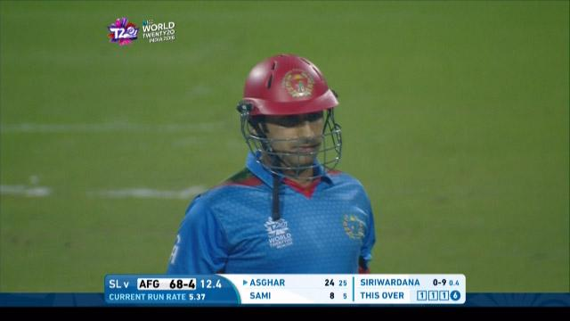 Asghar hits back to back sixes!