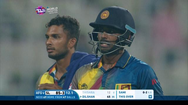 Thisara Perera Wicket Fall SL V AFG Video ICC WT20 2016