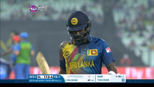 Chamara Kapugedera Wicket Fall SL V AFG Video ICC WT20 2016