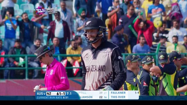 Martin Guptill Wicket Fall NZ V AUS Video ICC WT20 2016