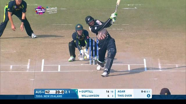 Guptill smashes back to back sixes off Agar