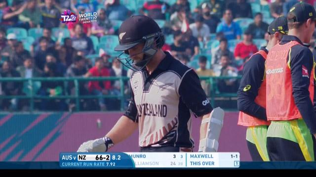 Kane Williamson Wicket Fall NZ V AUS Video ICC WT20 2016