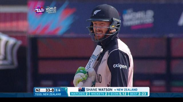 Martin Guptill Innings for New Zealand V Australia Video ICC WT20 2016