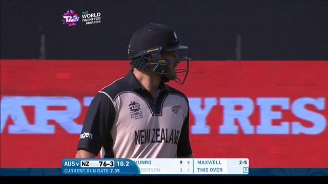 Corey Anderson Wicket Fall NZ V AUS Video ICC WT20 2016