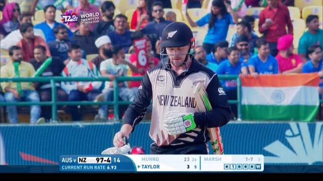 Colin Munro Wicket Fall NZ V AUS Video ICC WT20 2016