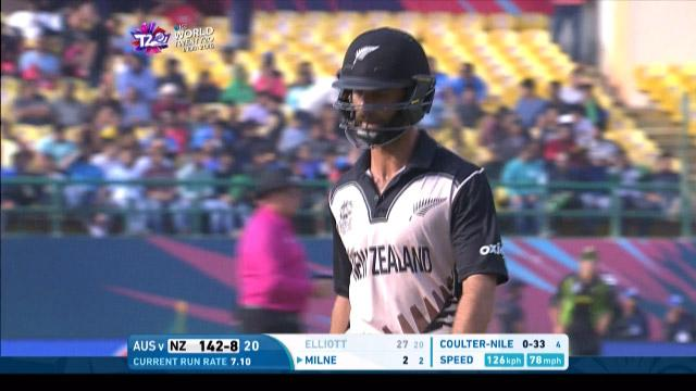 Grant Elliott Wicket Fall NZ V AUS Video ICC WT20 2016