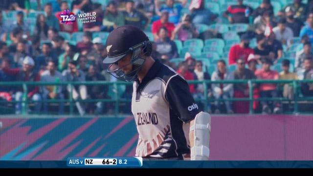 New Zealand wicket Losses v Australia Video ICC WT20 2016