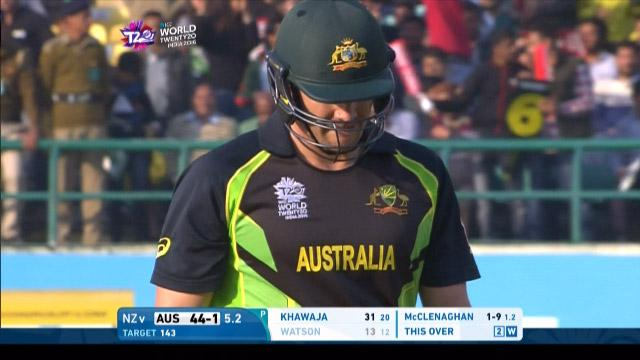 Shane Watson Wicket Fall AUS V NZ Video ICC WT20 2016