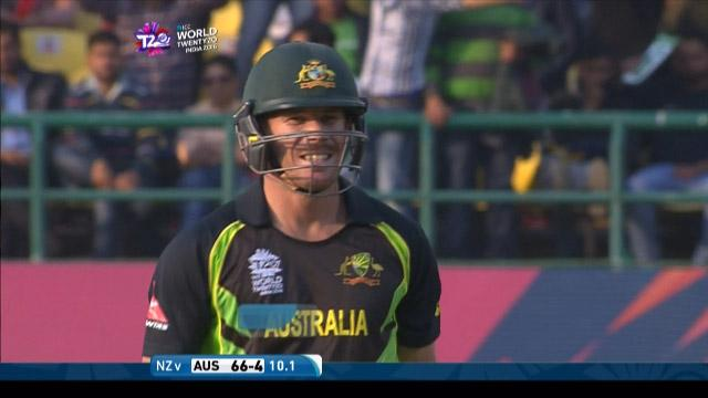 David Warner Wicket Fall AUS V Nz Video ICC WT20 2016