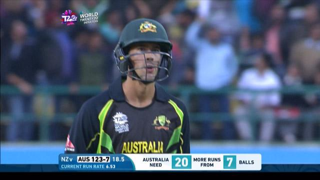 Ashton Agar Wicket Fall AUS V Nz Video ICC WT20 2016