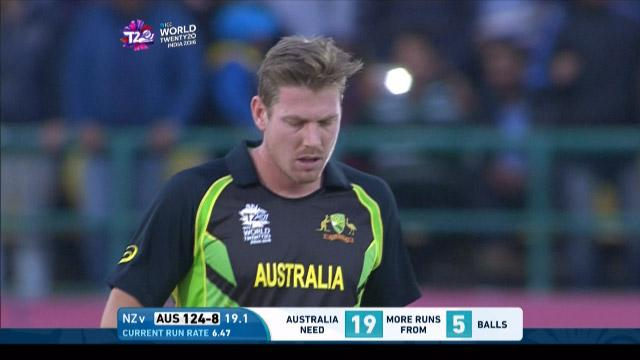 James Faulkner Wicket Fall AUS V Nz Video ICC WT20 2016