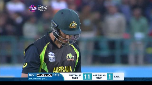 Nathan Coulter-Nile Wicket Fall AUS V Nz Video ICC WT20 2016