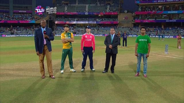 England wins Toss against South Africa Match 18 ICC WT20 2016