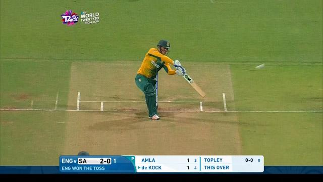 de Kock goes HUGE for 6 over cover!