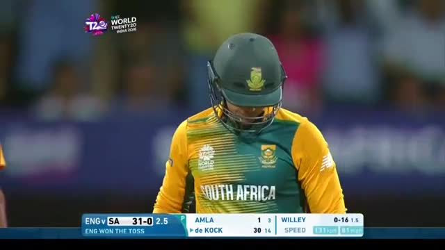 de Kock smashes 20 off Willey's over!