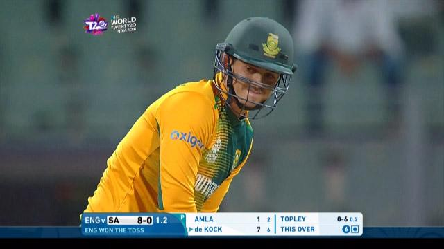 Quinton de Kock Innings for South Africa V England Video ICC WT20 2016