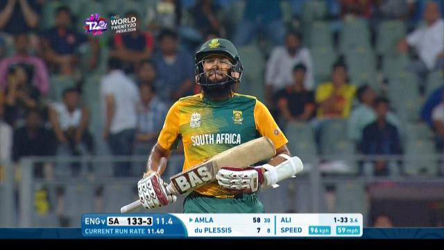 Hashim Amla Wicket Fall SA V ENG Video ICC WT20 2016