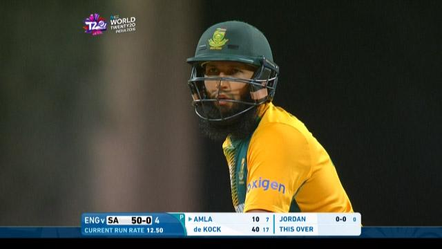 Hashim Amla Innings for South Africa V England Video ICC WT20 2016