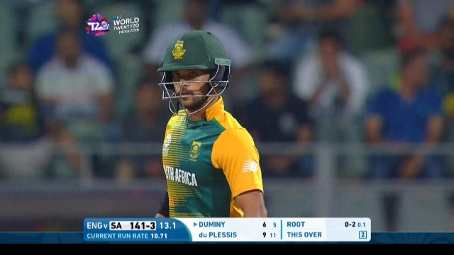 Jean-Paul Duminy Innings for South Africa V England Video ICC WT20 2016
