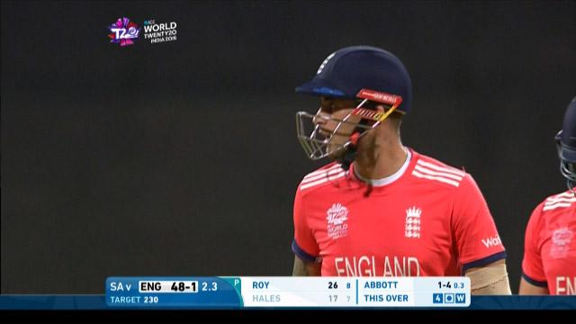 Alex Hales Wicket Fall ENG V SA Video ICC WT20 2016