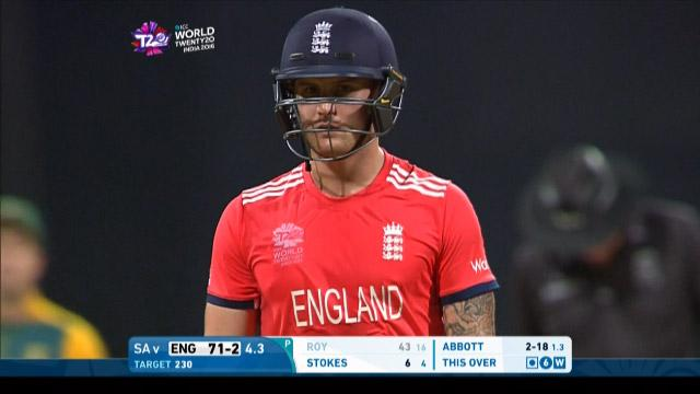 Jason Roy Wicket Fall ENG V SA Video ICC WT20 2016