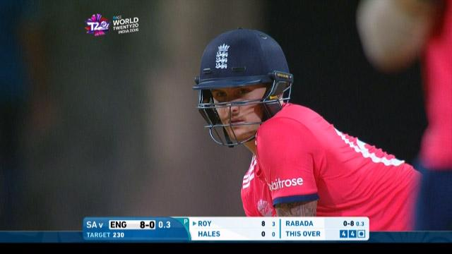 Jason Roy Innings for South Africa V England Video ICC WT20 2016