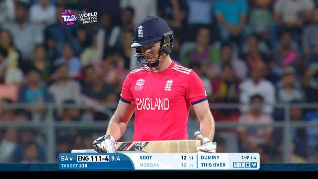Eoin Morgan Wicket Fall ENG V SA Video ICC WT20 2016