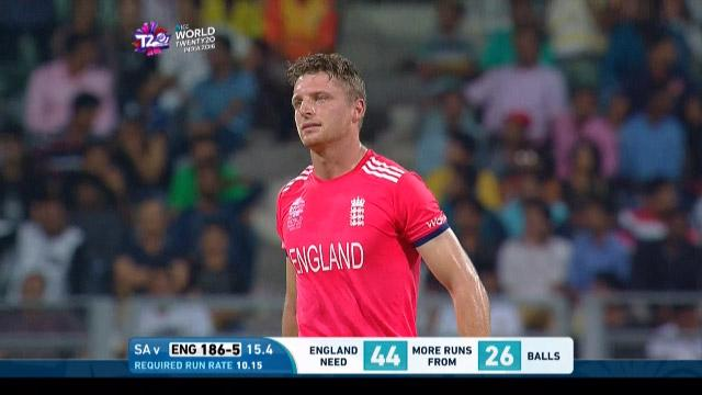 Jos Buttler Wicket Fall ENG V SA Video ICC WT20 2016