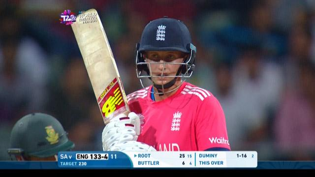 Joe Root Innings for England V South Africa Video ICC WT20 2016