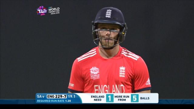 David Willey Wicket Fall ENG V SA Video ICC WT20 2016