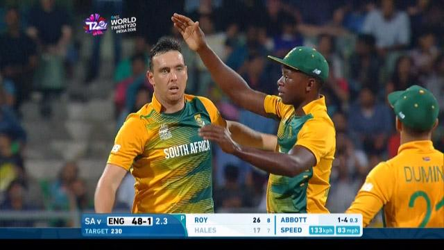 Kyle Abbott 3-41 for SA V ENG ICC WT20 2016