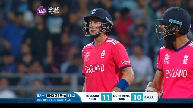 England wicket Losses v South Africa Video ICC WT20 2016