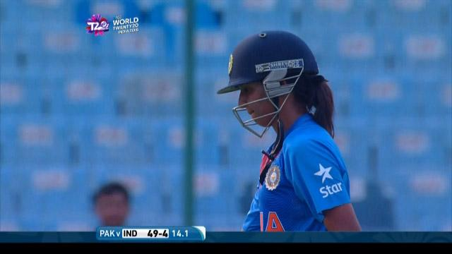 Harmanpreet Kaur Wicket Fall IND V PAK Video ICC Womens WT20 2016