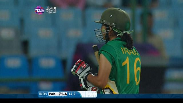 Iram Javed Wicket Fall IND V PAK Video ICC Womens WT20 2016