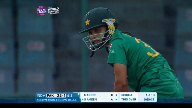 Sidra Ameen Match Hero for Pakistan v IND ICC Womens WT20 2016