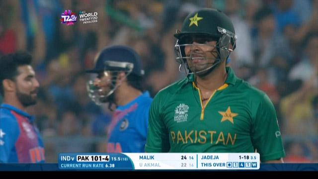 Umar Akmal Wicket Fall IND V PAK Video ICC WT20 2016