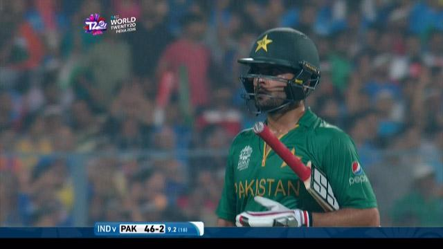 Pakistan wicket Losses v India Video ICC WT20 2016