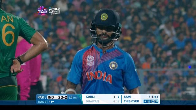 Rohit Sharma Wicket Fall IND V PAK Video ICC WT20 2016