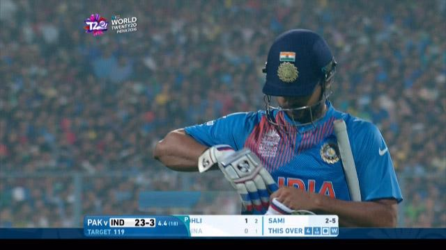 Suresh Raina Wicket Fall IND V PAK Video ICC WT20 2016