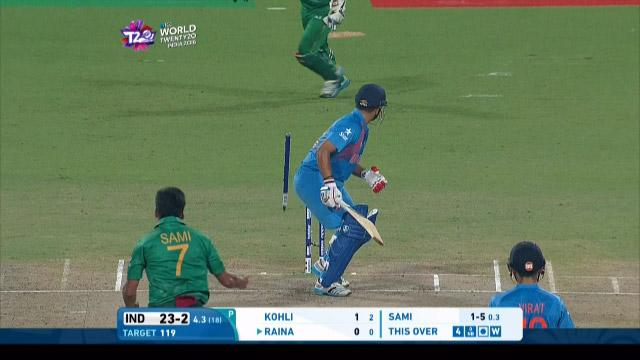 India Innings Wickets – IND v PAK