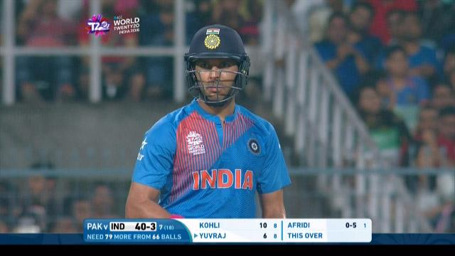 Yuvraj Singh Match Hero for India v PAK ICC WT20 2016