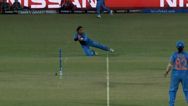 Mithali Raj takes a wonderful catch for India Women