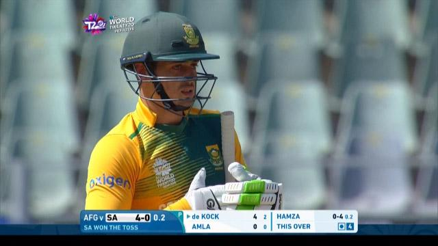 Quinton de Kock Innings for South Africa V Afghanistan Video ICC WT20 2016